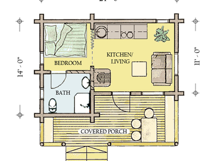 Hunting Cabin Floor Plans Rustic Cabin Plans