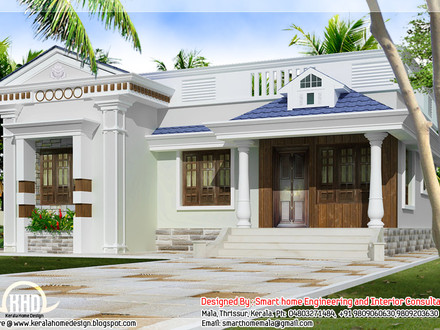 Kerala Style Single Storey House Design One Story Bungalow Floor Plans