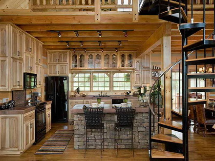 Log Cabin Kitchen Design Ideas Small Log Cabin Kitchen Ideas
