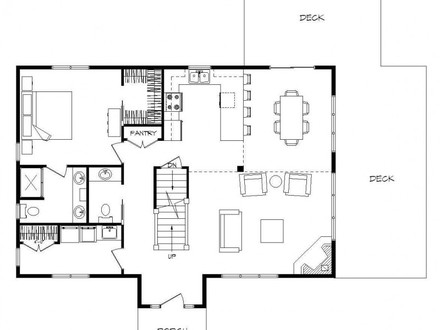 Single story log home floor plans large single story log for Log cabin house plans with basement