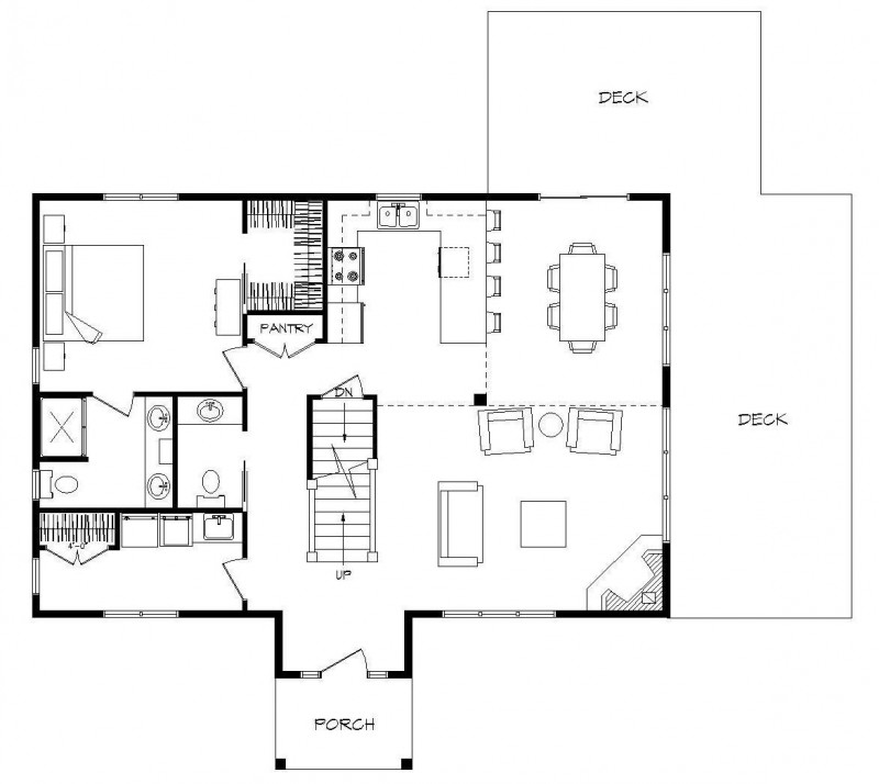 Log home plans with open floor plans log home plans with for One level house plans with porch