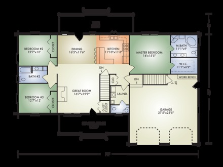 Log Ranch Home Open Floor Plan Complete Log Home Package Pricing