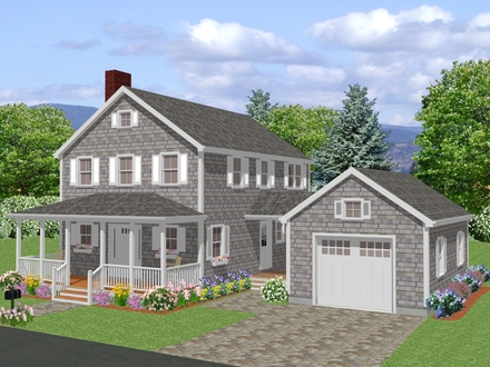 Long New England Colonial House New England Colonial House Plans