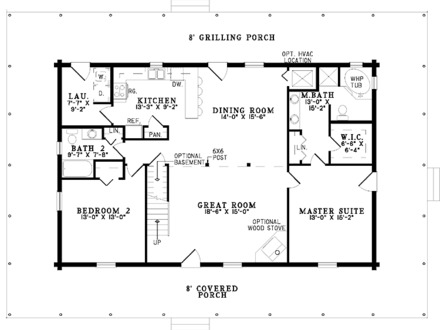 Master Bedroom Two-Story Deck 2 Bedroom One Story House Plans