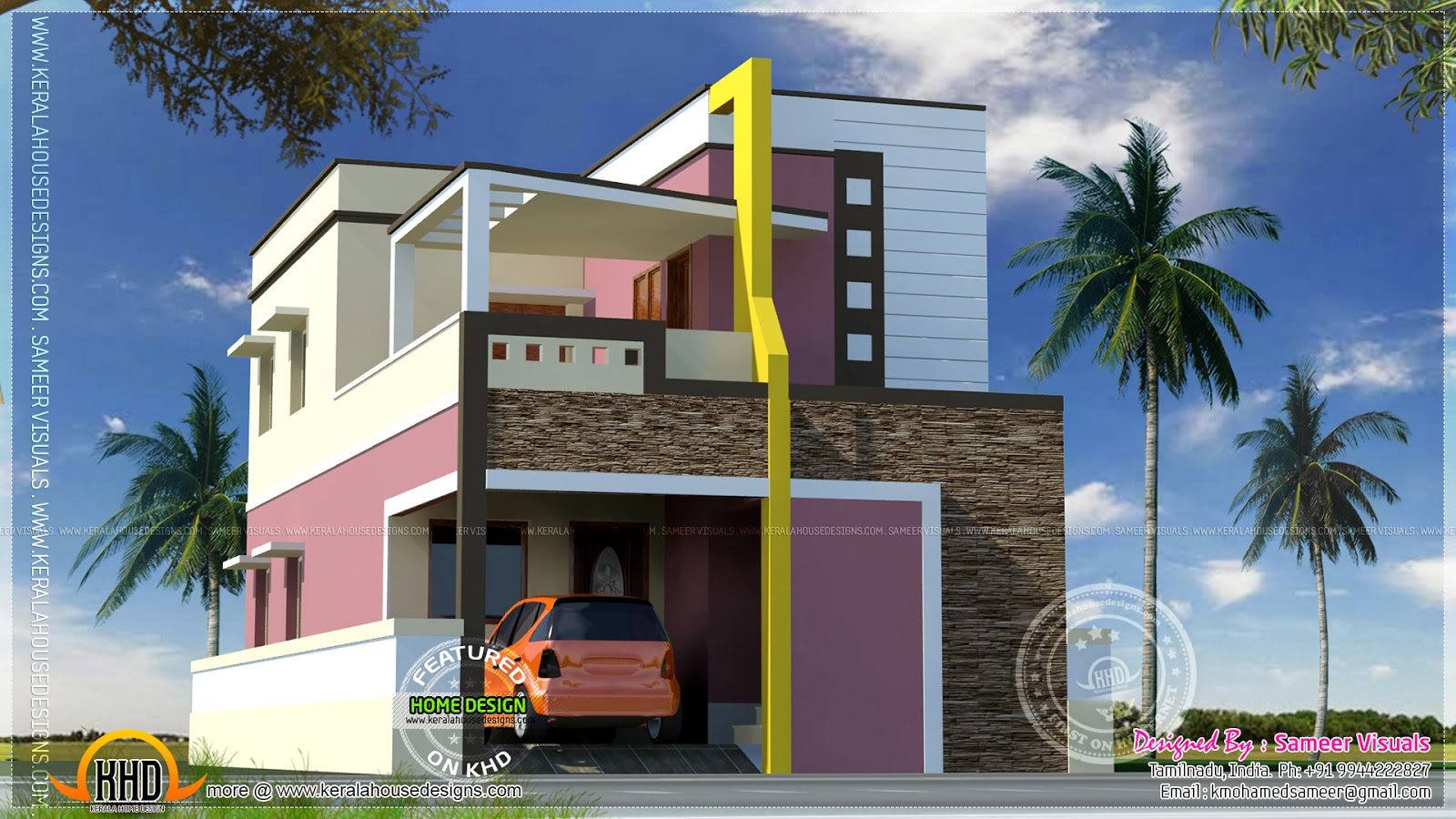 Modern indian home design small modern house indian Indian small house design pictures