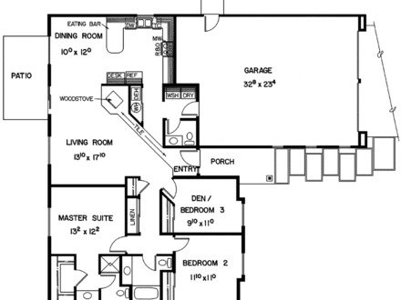 Modern one story ranch house old ranch house floor plans for Old ranch house plans