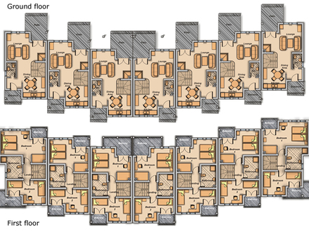 4story townhouse plans 4story transparent background for Beach townhouse designs