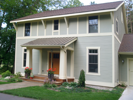 Exterior colors gray white and gray exterior paint colors for New construction craftsman homes