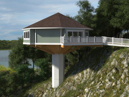 Spanish hacienda house plans house plans for homes on for Modular homes on pilings