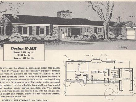 Antique home vintage house plans antique vintage for Old ranch house plans