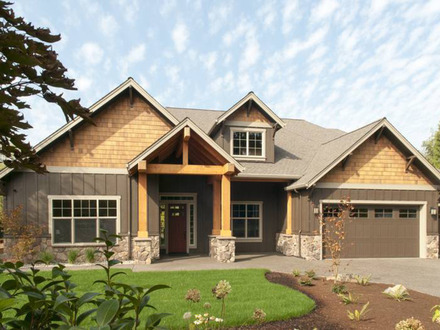 One Story Craftsman House Plans Modern One Story Ranch House