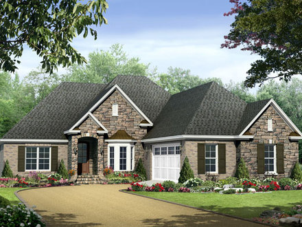 3 bedroom house plans simple 3 bedroom house floor plans for Single story house with wrap around porch
