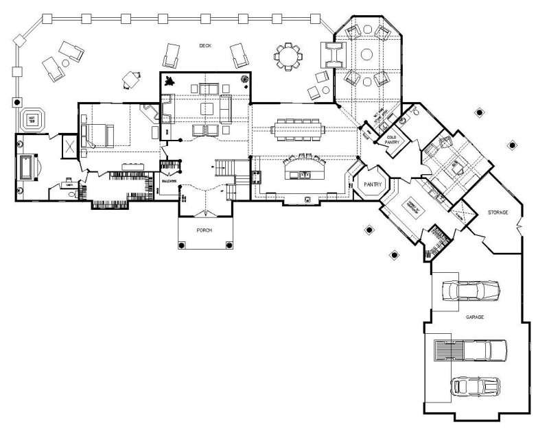 One Story Log Home Floor Plans One Story Ranch Style Log Home Kits