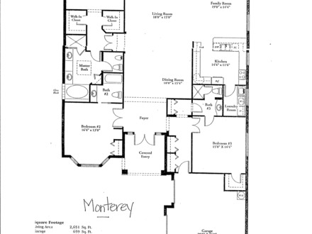 Simple small house floor plans small two bedroom house for Luxury ranch home floor plans