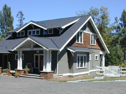Prairie Style House Craftsman Style Bungalow House Plans
