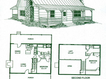 2 bedroom log cabin floor plans log cabin bathrooms log for Rustic home plans with loft