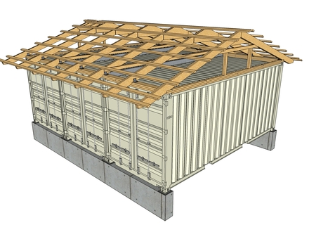 Shed Roof Framing Plan Flat Roof Shed Framing