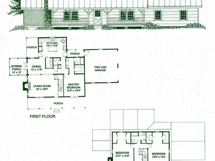 Log cabin home house plans small log cabin homes 2 for Single level log home plans