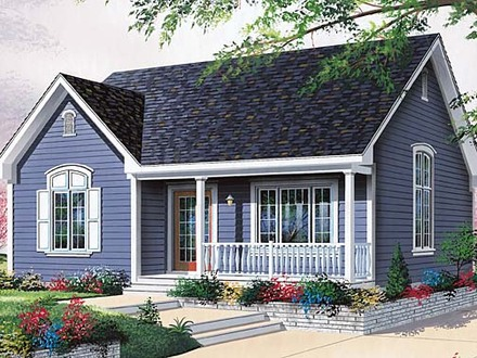 Small Cabins Tiny Houses Small One Level House Plan