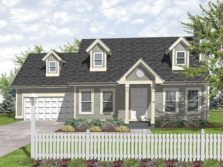 Small cottage style house plans small cottage style home for Small cape cod house