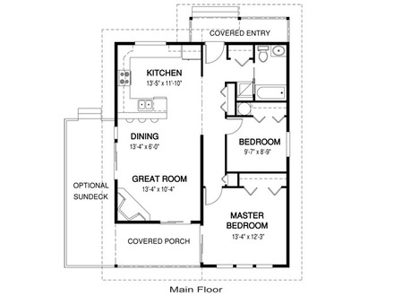 Small Guest House Floor Plans Guest House Plans Under 1000 Sq FT