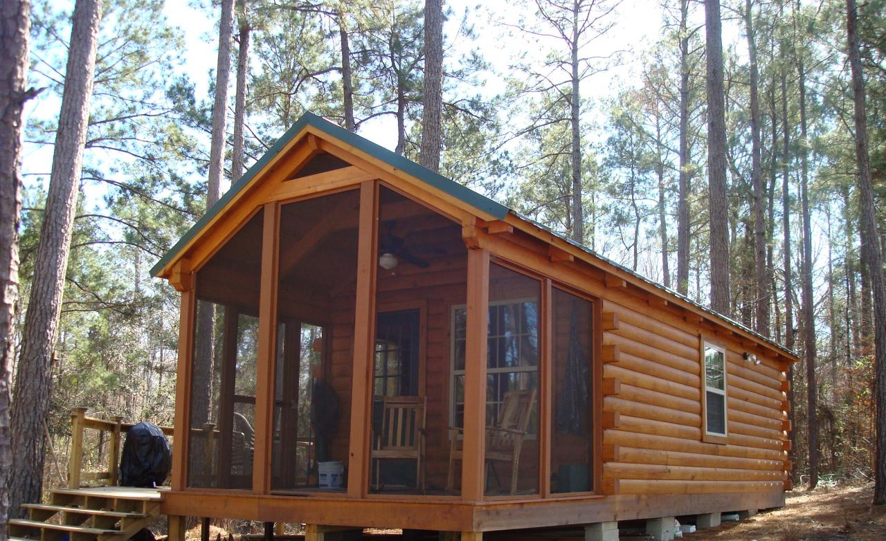 Small Log Cabin Floor Plans Small Camping Cabin Plans