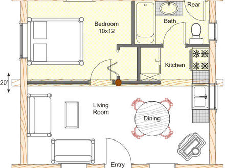 Rustic small cabin ideas small rustic cabin house plans for Small log cabin floor plans and prices
