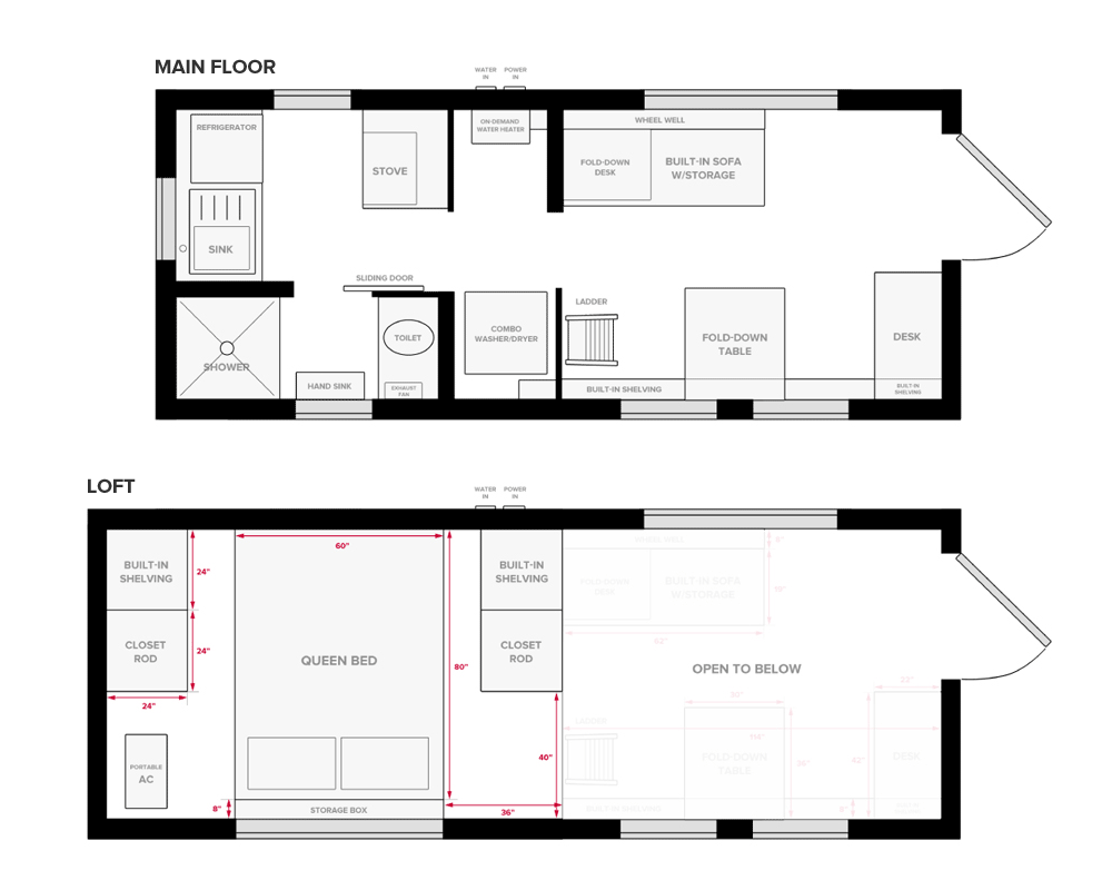 Tiny house floor plans 14 x 18 inside tiny house interior for House plans with pictures inside