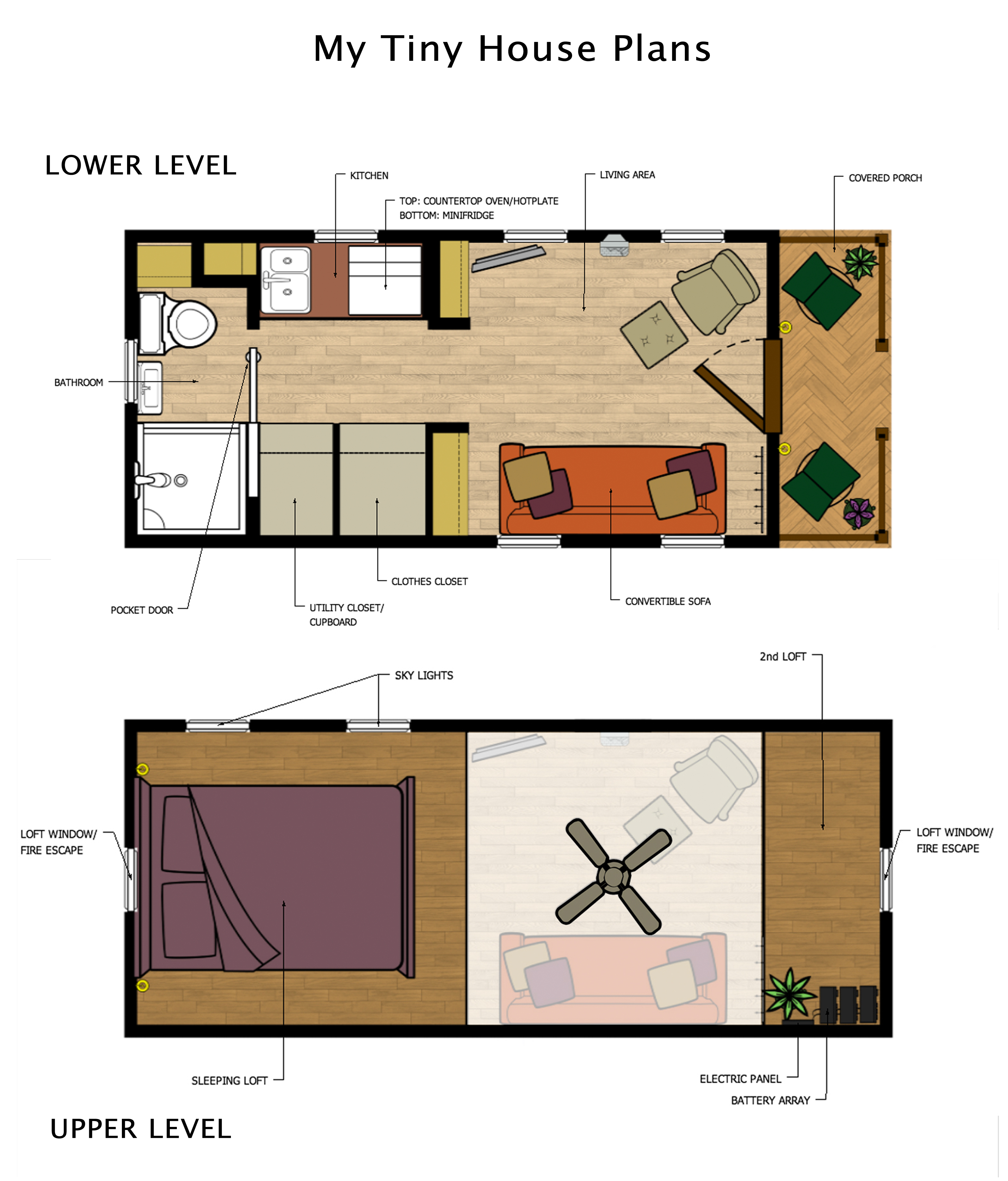 Tiny house plans with loft tiny loft house floor plans for Beach house plans with loft