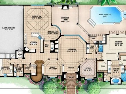 Tropical House Designs and Floor Plans Caribbean Tropical House Designs