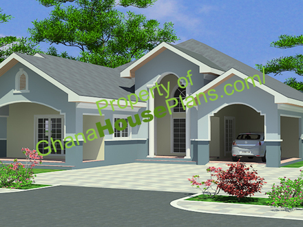 Two-Storey Houses with Balconies Storey 4 Bedroom House Plans in Ghana