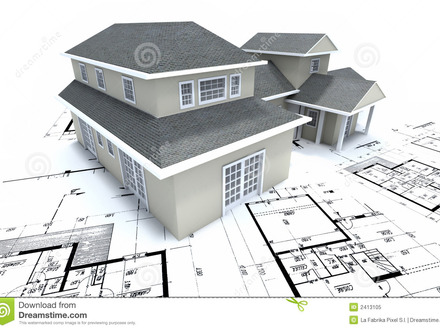 Two-Storey Residential Construction Plan Residential House Plans Blueprints