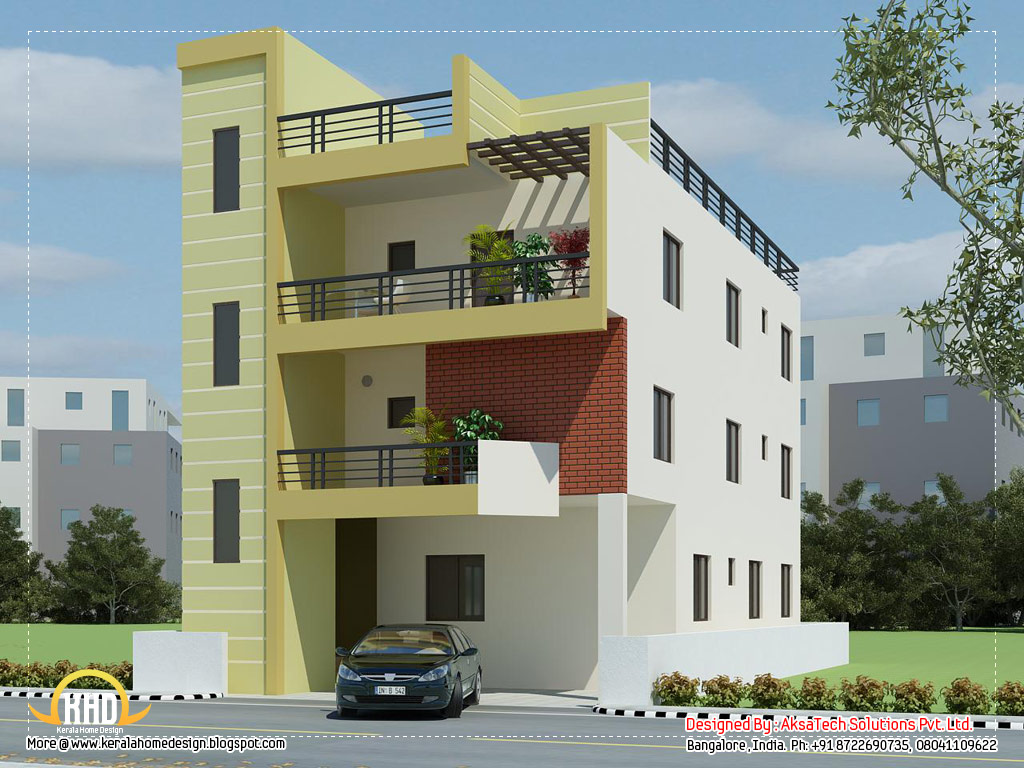 Double Story Building Elevation : Two story modern house elevation designs