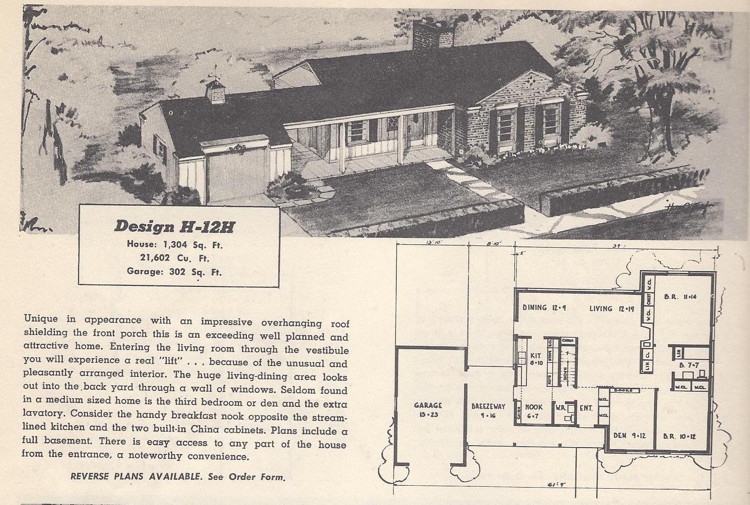 1970s bi level house plans vintage ranch house plans for 1970s ranch house plans