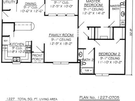 2 Bedroom 1 Bath Apartment 2 Bedroom 1 Bathroom House Plans