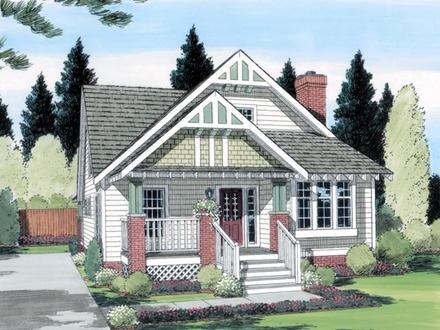2 Bedroom Cottage House Cottage and Bungalow House Plans