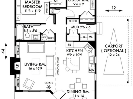 2 Bedroom Cottage House Plans Small 2 Bedroom Cottage