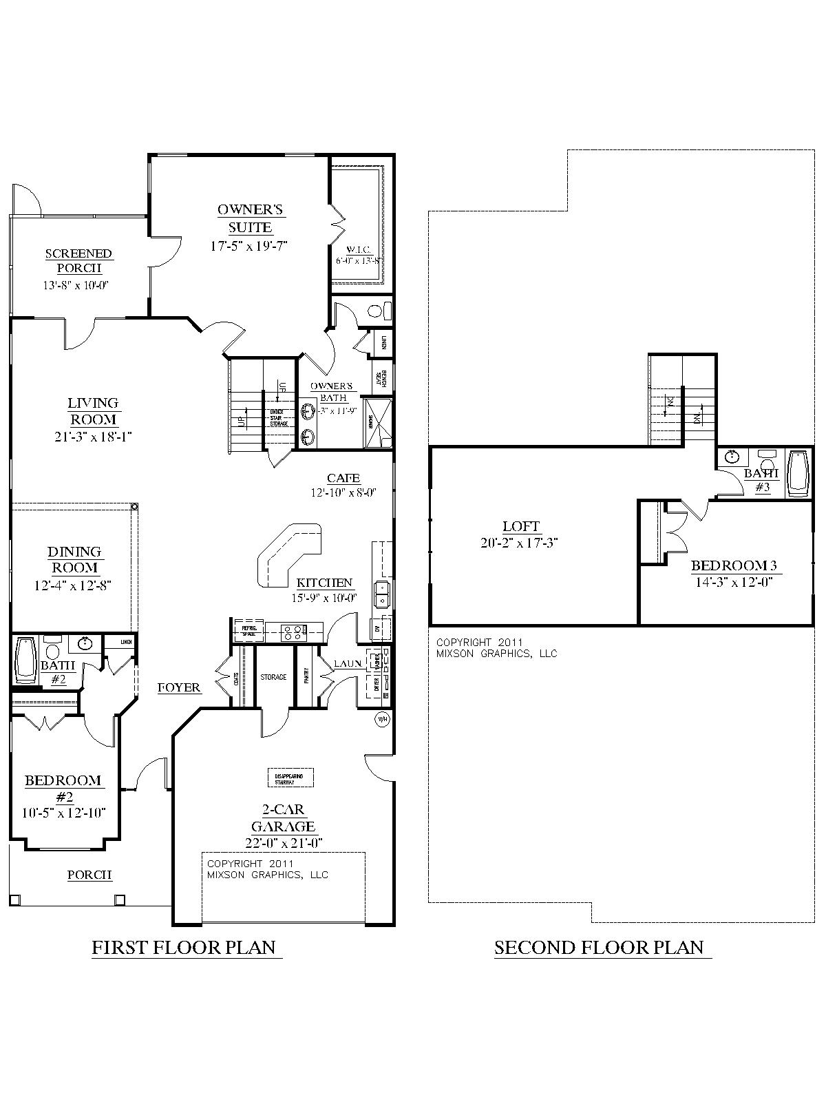 2 story house plans with bedrooms upstairs modern 2 story for Upstairs floor plans