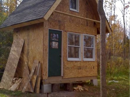 Small cabin building plans building small cabins with for 20x20 cabin plans