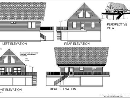 28' x 36' Mountain Cabin Plan 1064 sq ft SDS Plans
