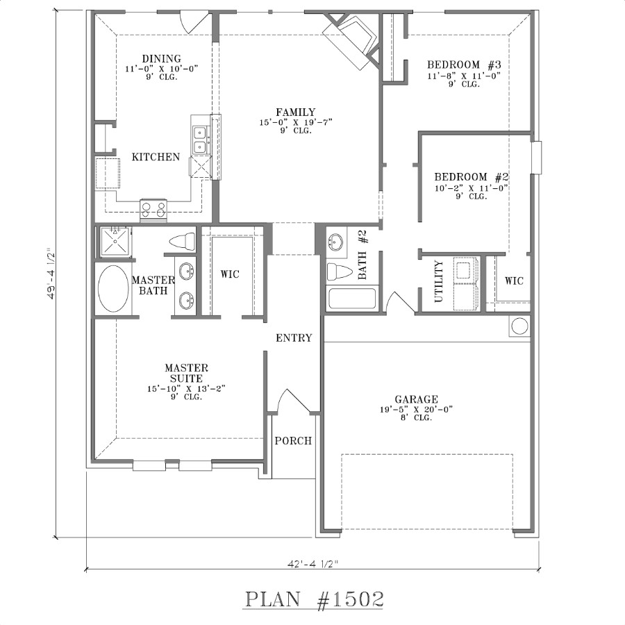 3 bedroom 2 bath house plans 1550 sq ft 3 bedroom 2 bath for 3 bedrooms 2 bathrooms