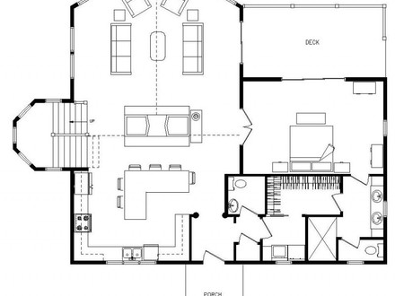 Small cabin floor plans log cabin floor plans 1 room for One room log cabin designs
