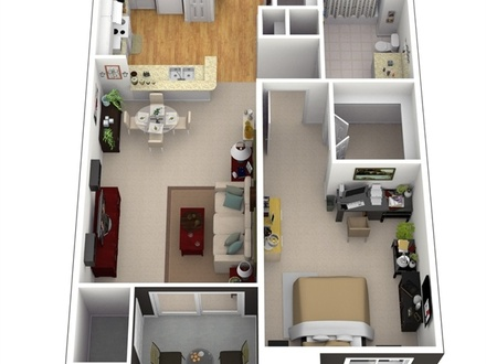 3D Small House Floor Plans 3D House Plans