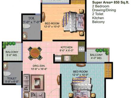 850 Sq FT Floor Plans for House 700 Sq Ft. House Plans