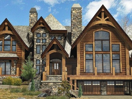 Timber frame construction timber frame home house plans for Adirondack house plans