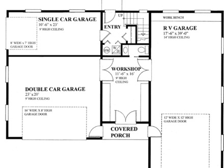 Nine bedroom house plans for 2 car garage size square feet