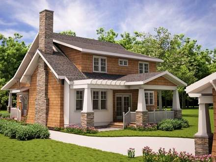 Arts and Crafts Bungalow House Plans Arts and Crafts Architecture