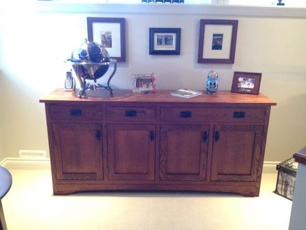 Arts and Crafts Post Light Arts and Craft Mission Style Sideboard