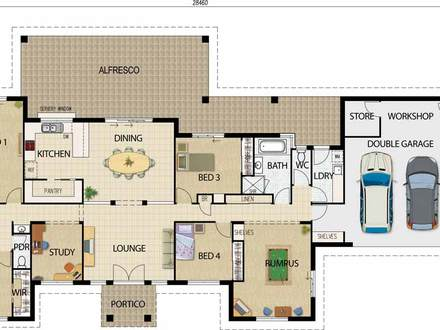 Best Open Floor House Plans One Story Open Floor House