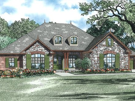 Brick Stone Combinations Homes Brick and Stone House Plans